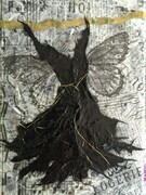 Black Butterfly Dress, SOLD