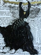 Black Feathered Fairy Dress SOLD