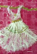 White Feathered Fairy Dress SOLD